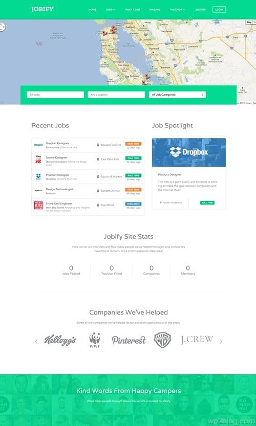 Jobify WordPress Theme