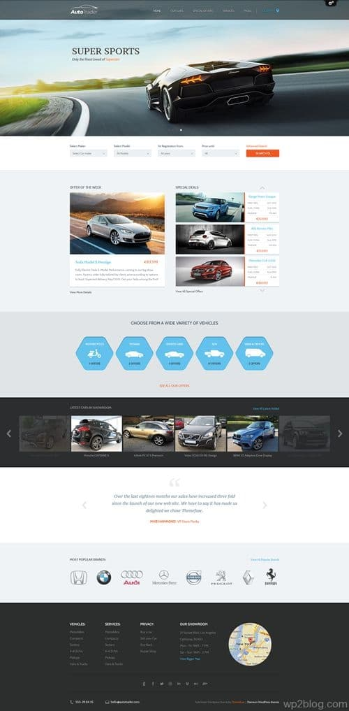 AutoTrader WordPress Theme
