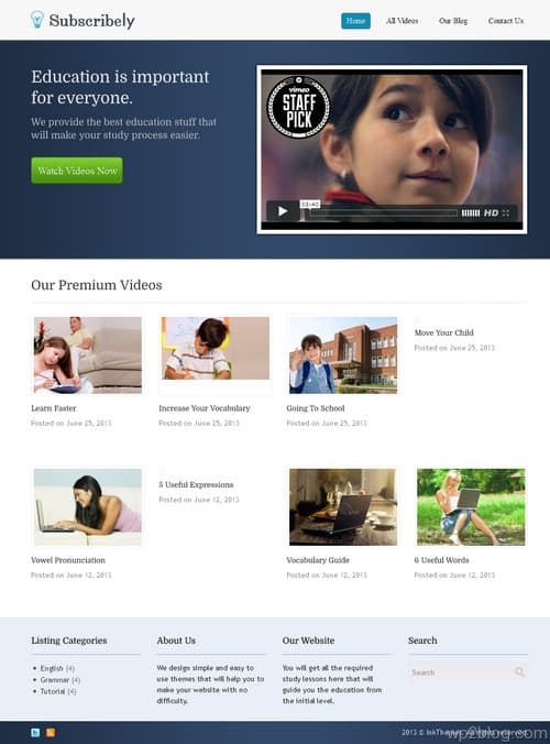 Subscribely WordPress Theme