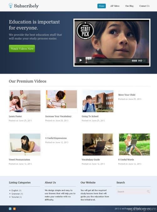 Subscribely WordPress Theme