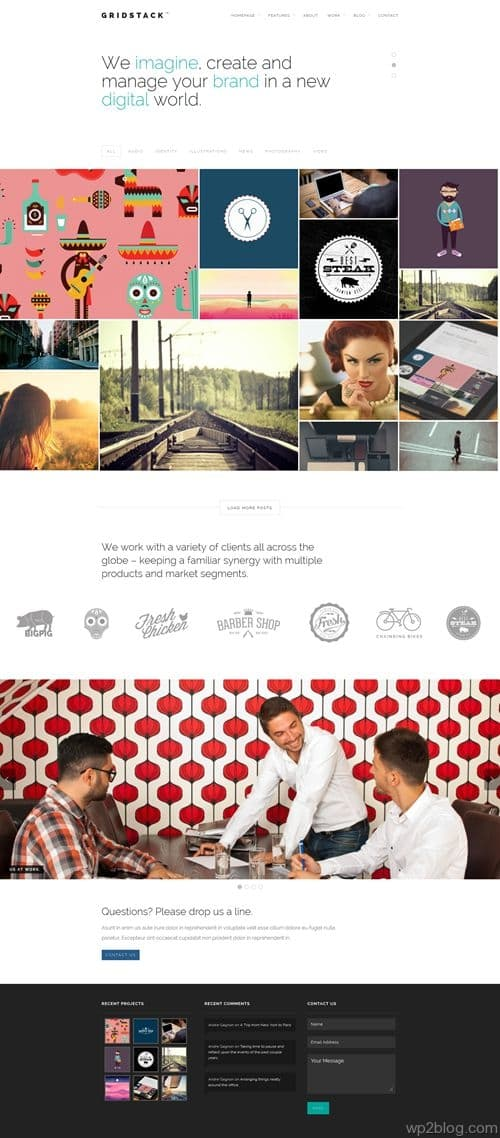 GridStack WordPress Theme