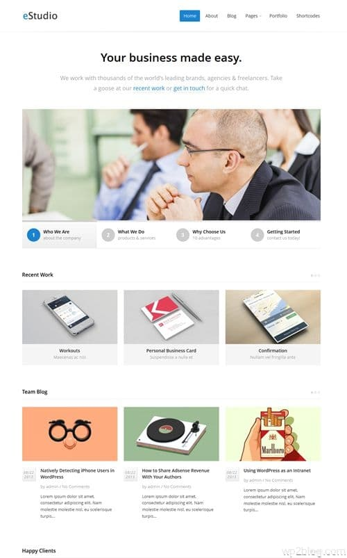 eStudio WordPress Theme