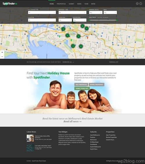SpotFinder WordPress Theme