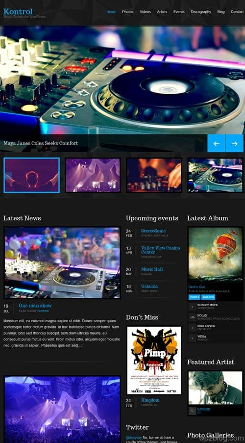 Kontrol WordPress Theme