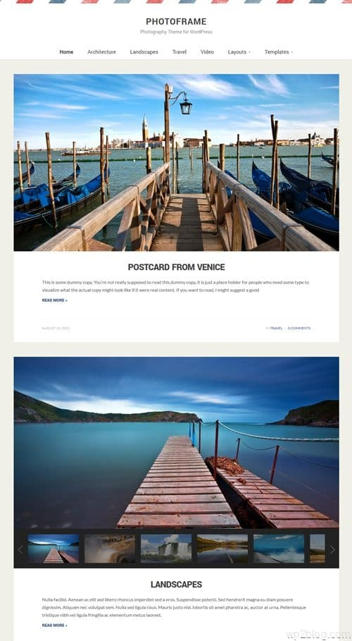 PhotoFrame WordPress Theme