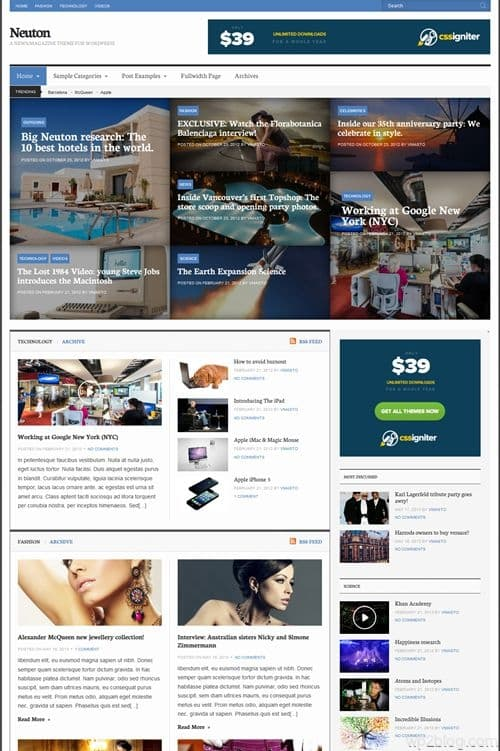 Neuton WordPress Theme