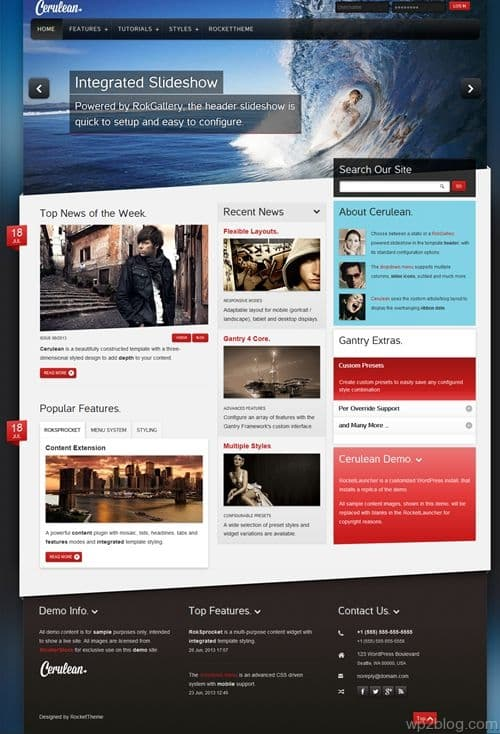 Cerulean WordPress Theme