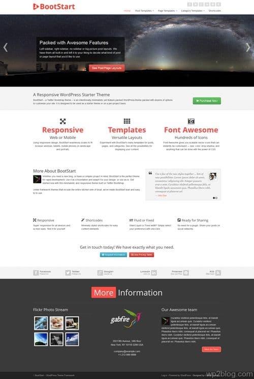 BootStart WordPress Theme