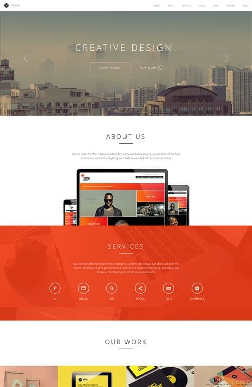 Visia WordPress Theme