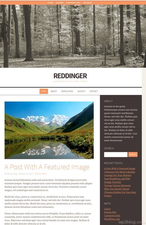 Reddinger WordPress Theme
