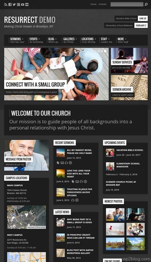 Resurrect WordPress Theme