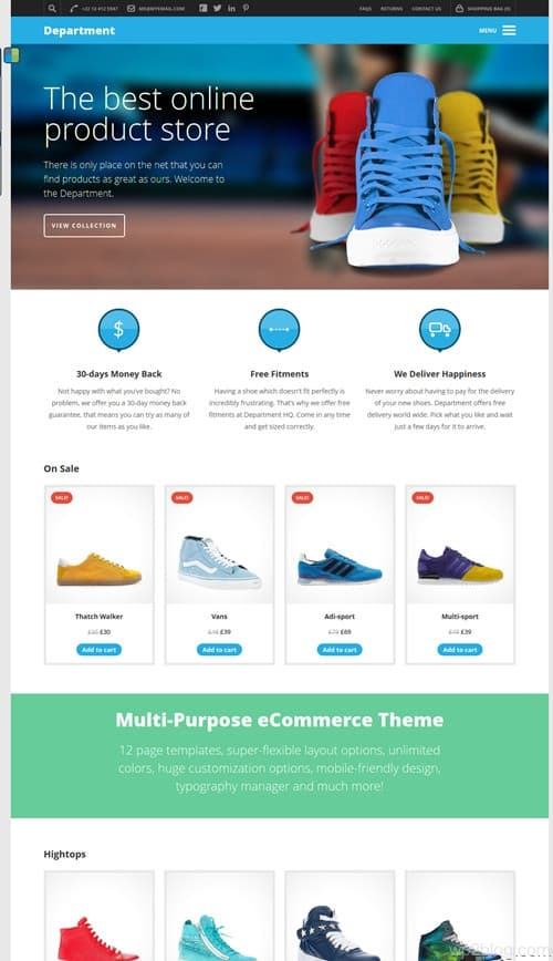 Department WordPress Theme