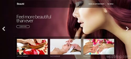 Beauté WordPress Theme