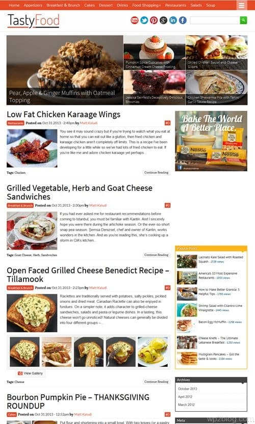 TastyFood WordPress Theme