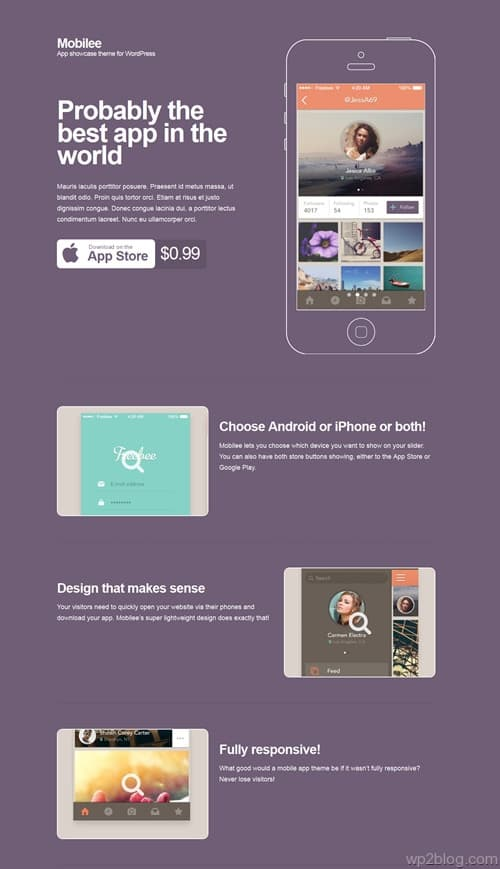 Mobilee WordPress Theme