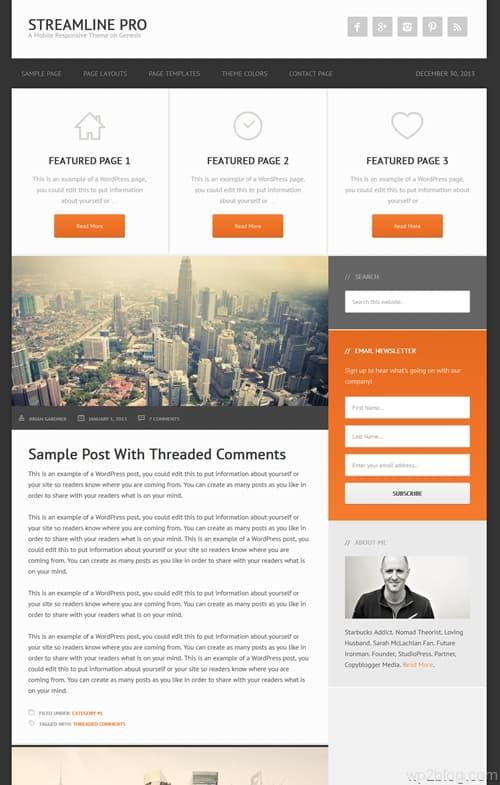 Streamline Pro WordPress Theme