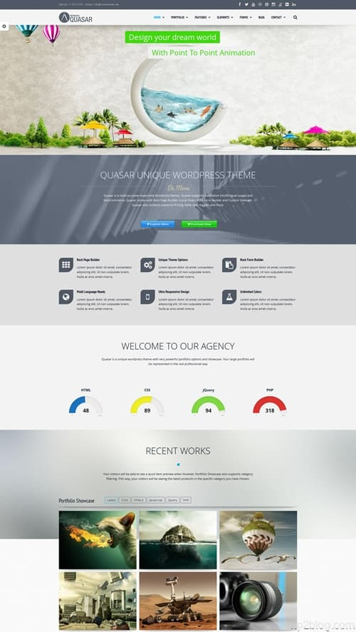 Quasar WordPress Theme
