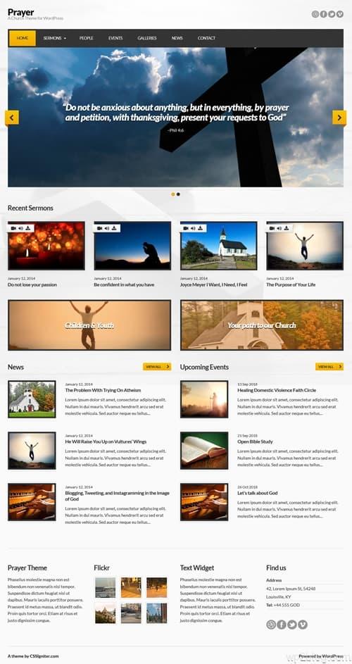 Prayer WordPress Theme