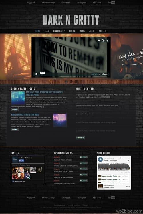 Dark_N_Gritty WordPress Theme