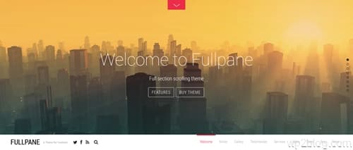 Fullpane WordPress Theme