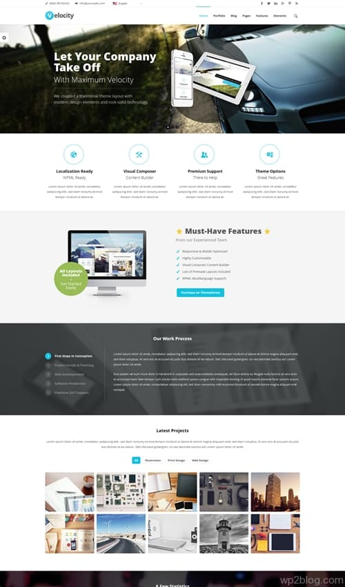 Velocity WordPress Theme