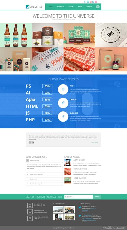 Universe WordPress Theme