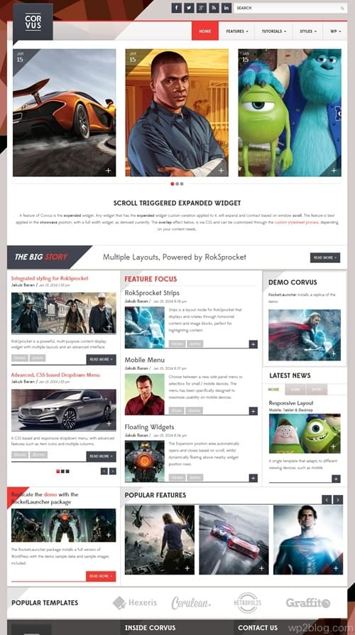 Corvus WordPress Theme