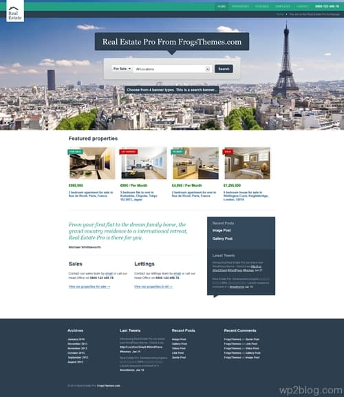 Real Estate Pro WordPress Theme
