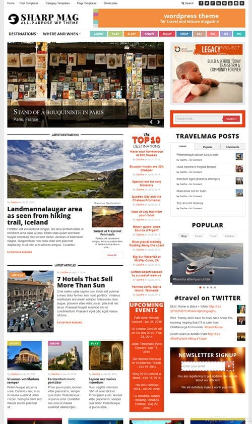 SharpMag WordPress Theme