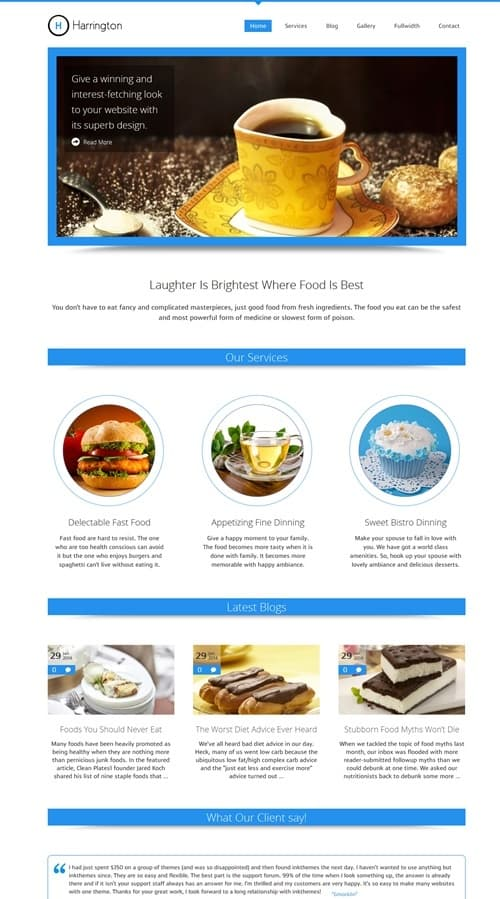 Harrington WordPress Theme