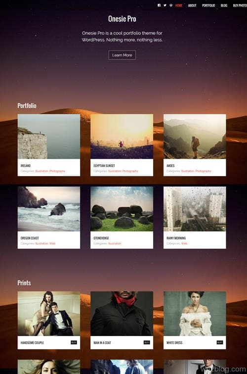 Onesie Pro WordPress Theme