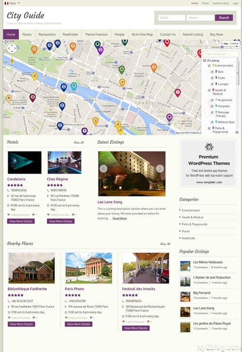 City Guide WordPress Theme