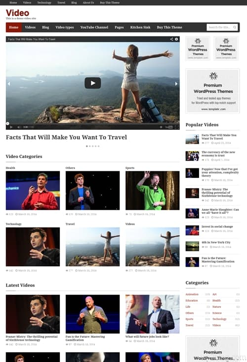 Video WordPress Theme