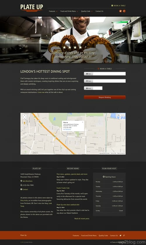 Plate Up WordPress Theme