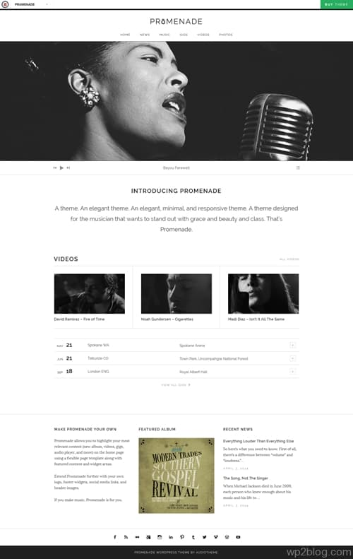 PRōMENADE WordPress Theme
