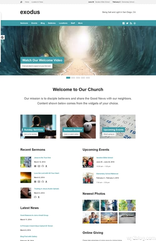 Exodus WordPress Theme