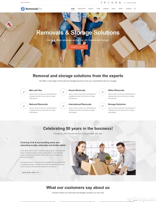Removals Pro WordPress Theme