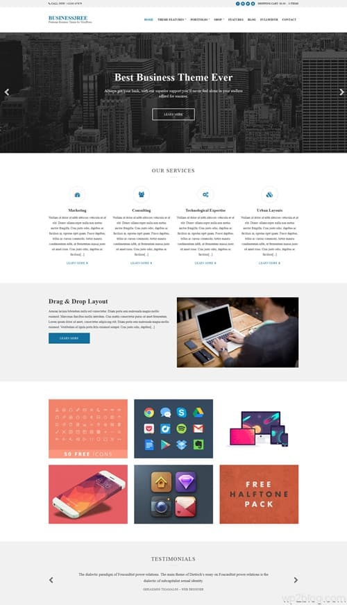Business3ree WordPress Theme