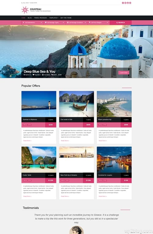 Cousteau WordPress Theme