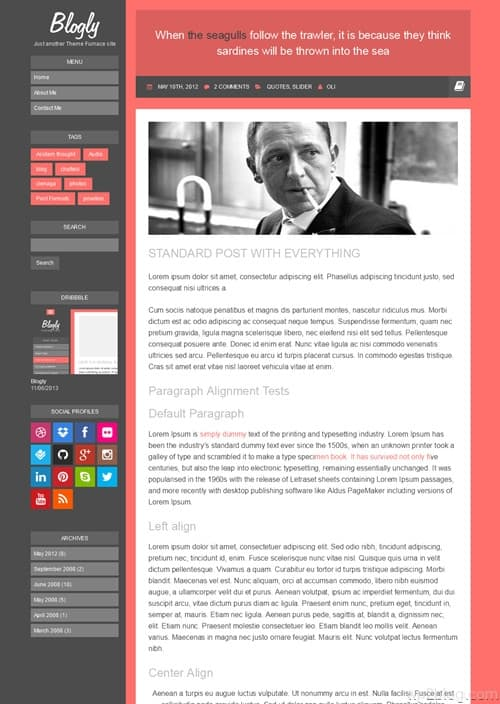Blogly WordPress Theme