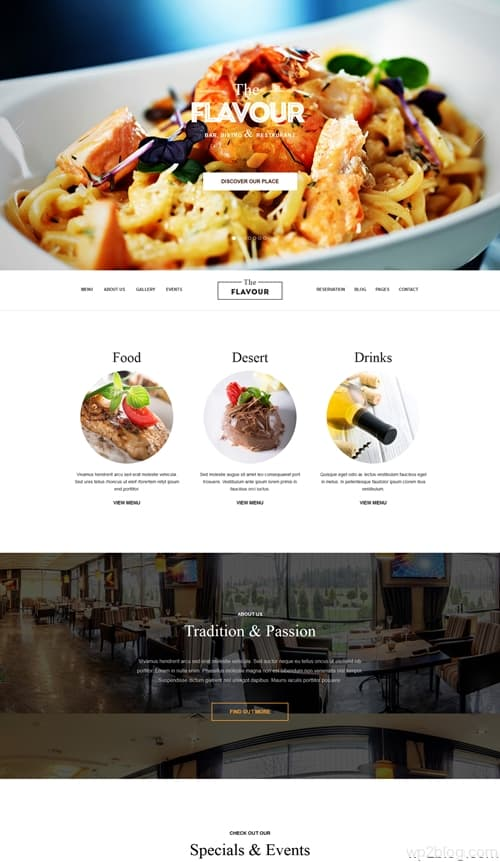 The Flavour WordPress Theme