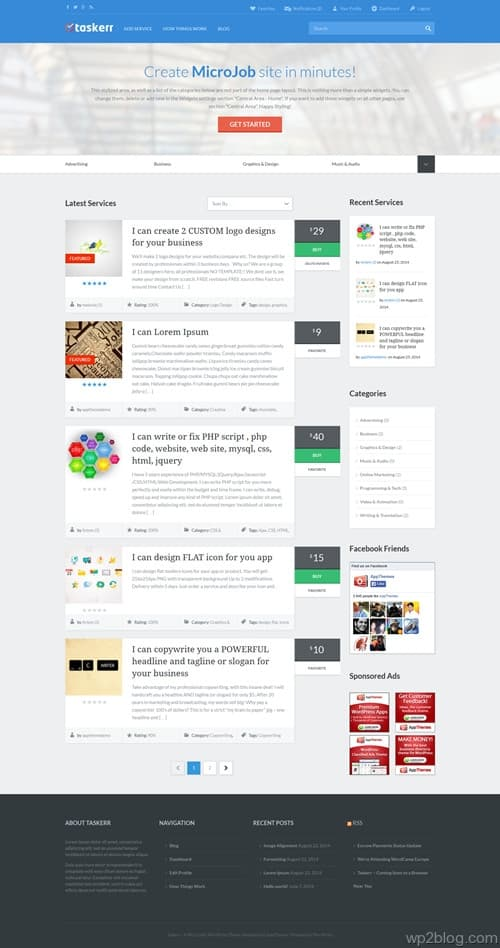 Taskerr WordPress Theme