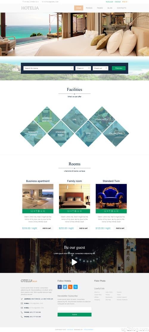 Hotelia WordPress Theme
