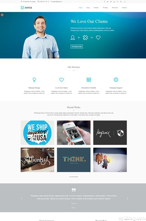 Xenia WordPress Theme