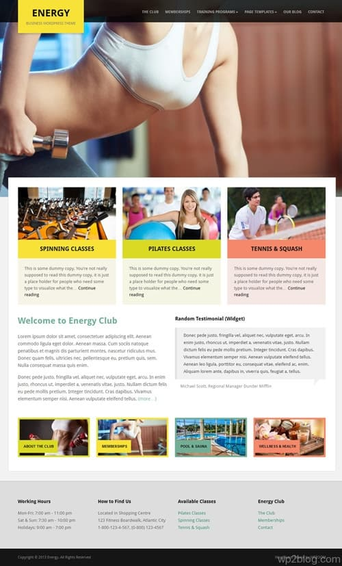 Energy WordPress Theme