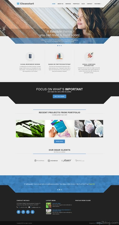 Cleanstart WordPress Theme
