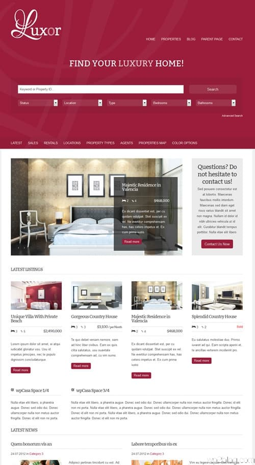 Luxor WordPress Theme