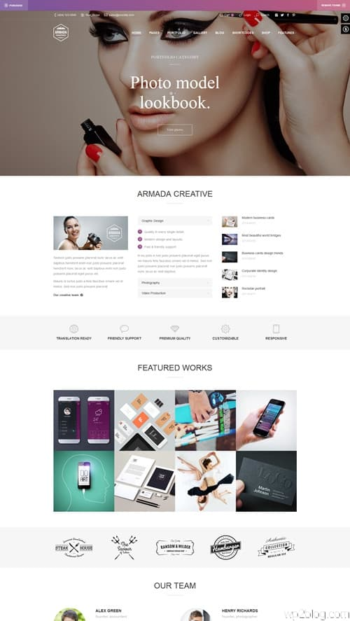 Armada WordPress Theme