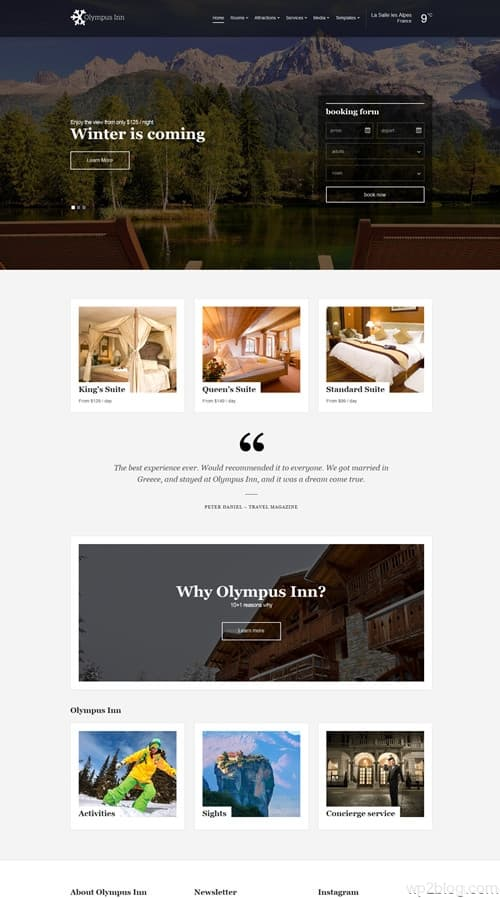 Olympus Inn WordPress Theme