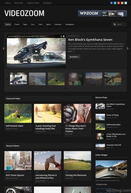 Videozoom 4.0 WordPress Theme